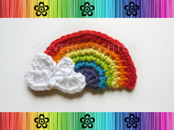Rainbow Applique - Crochet Pattern by EverLaughter