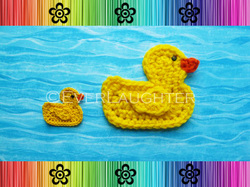 Duck Applique - Crochet Pattern by EverLaughter