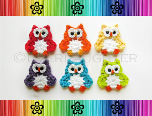 Owl Applique - Crochet Pattern by EverLaughter