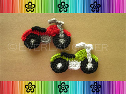 Motorcycle Applique - Crochet Pattern by EverLaughter