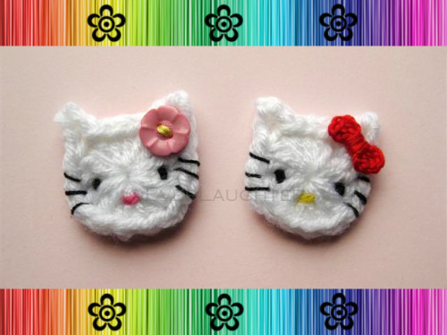 Hey Cat Applique - Crochet Pattern by EverLaughter