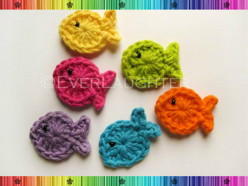 Fish Applique - Crochet Pattern by EverLaughter