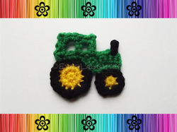 Tractor Applique - Crochet Pattern by EverLaughter