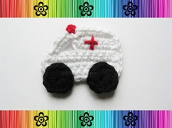 Ambulance Applique - Crochet Pattern by EverLaughter