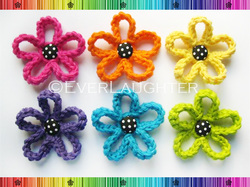 Loopy Flower - Crochet Pattern by EverLaughter