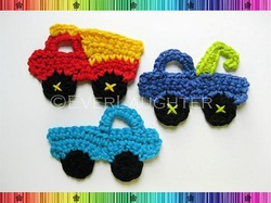 Truck Appliques - Crochet Pattern by EverLaughter