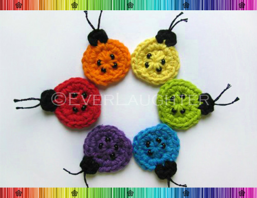 Ladybug Applique - Crochet Pattern by EverLaughter