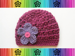 Eve Hat with Changeable Flower - Crochet Pattern by EverLaughter