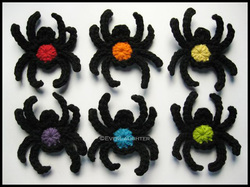 Spider Applique - Crochet Pattern by EverLaughter