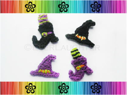 Witch's Hat and Boot Applique - Crochet Pattern by EverLaughter