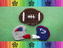 Football and Helmet Applique - Crochet Pattern by EverLaughter