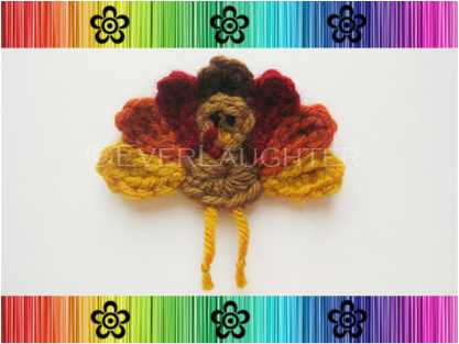 Turkey Applique - Crochet Pattern by EverLaughter