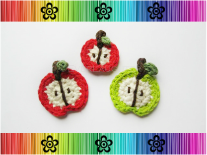 Apple Applique - Crochet Pattern by EverLaughter