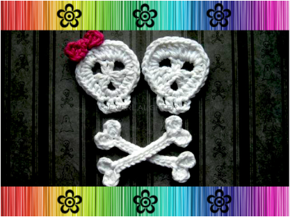 Skull and Crossbones Applique - Crochet Pattern by EverLaughter